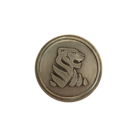 Tiger Noble Initial Medallion