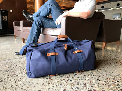 Large Canvas Duffle - Washed Navy Canvas