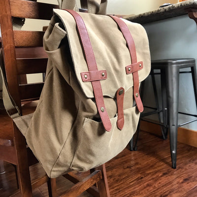 Backpack - Washed Camel Canvas