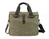 Briefcase - Washed Green Canvas