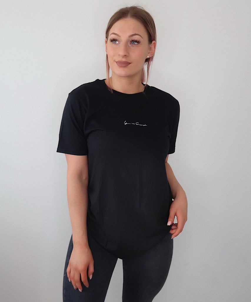 'You Are Enough' Black T-shirt