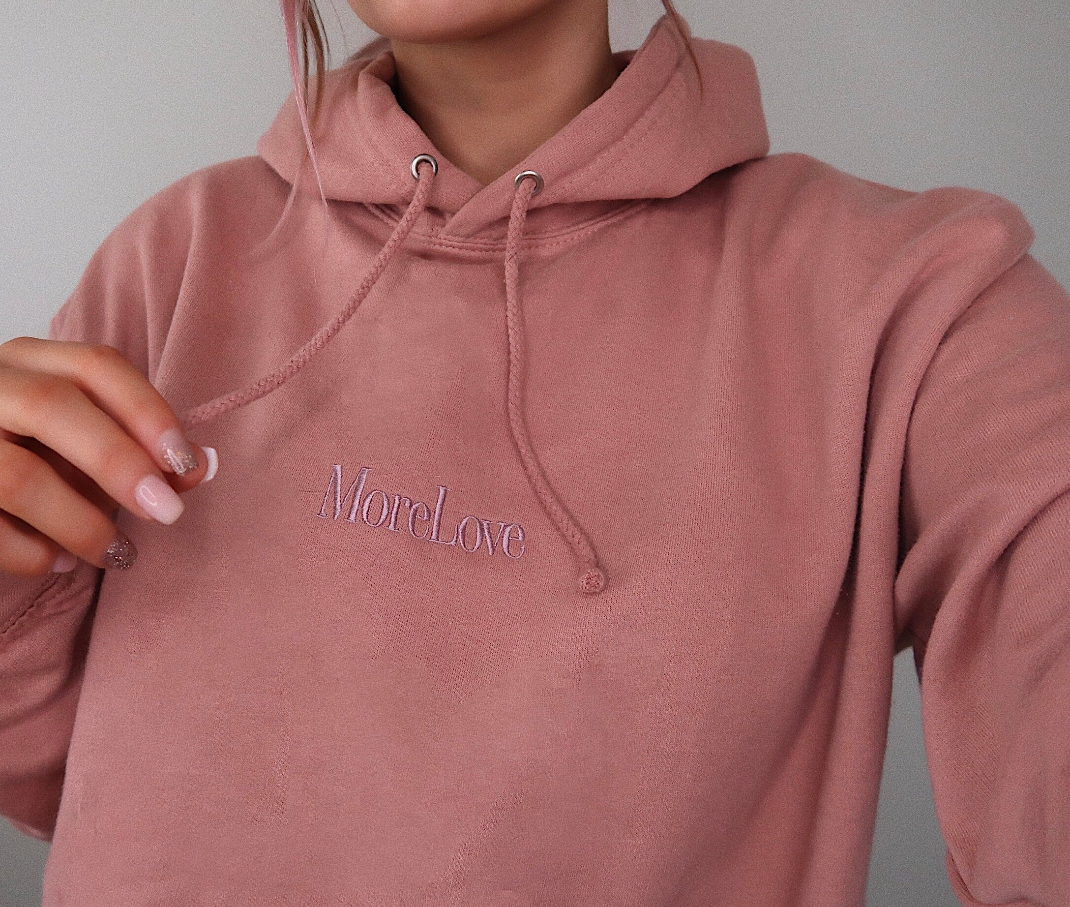'More Love' Dusty Pink Hoodie