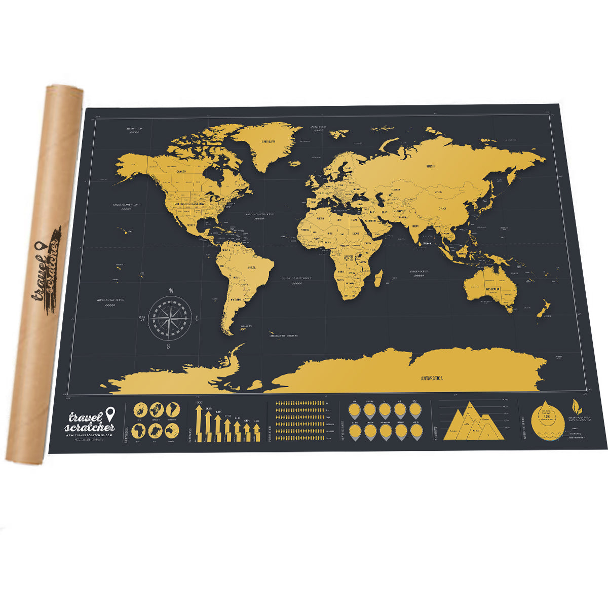 Where to buy Scratch-off World Maps - TravelScratcher