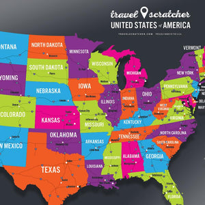 TRAVELSCRATCHER USA SCRATCH-OFF MAP - Coming Soon!