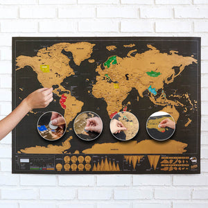 TRAVELSCRATCHER WORLD TRAVEL SCRATCH OFF MAP
