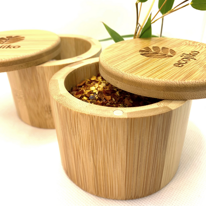 Bamboo Salt And Pepper Pots