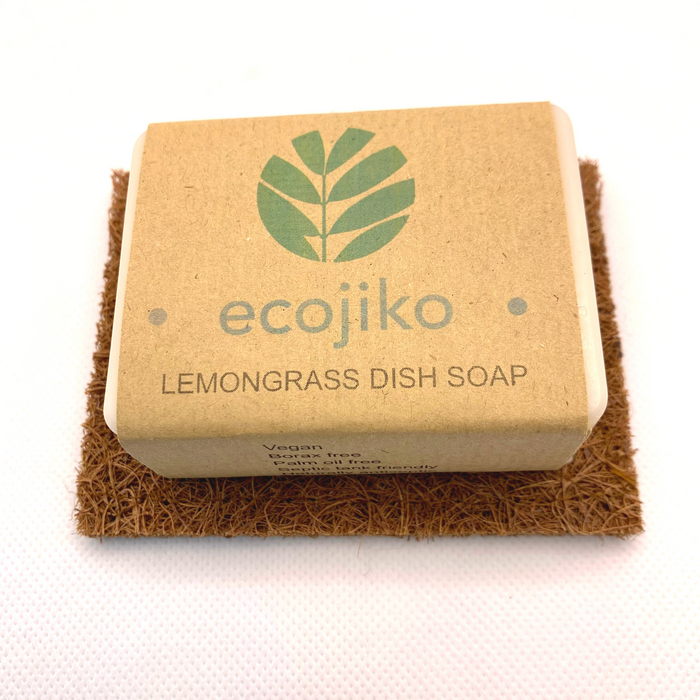 Lemongrass Dish Soap & Coconut Coir Soap Rest