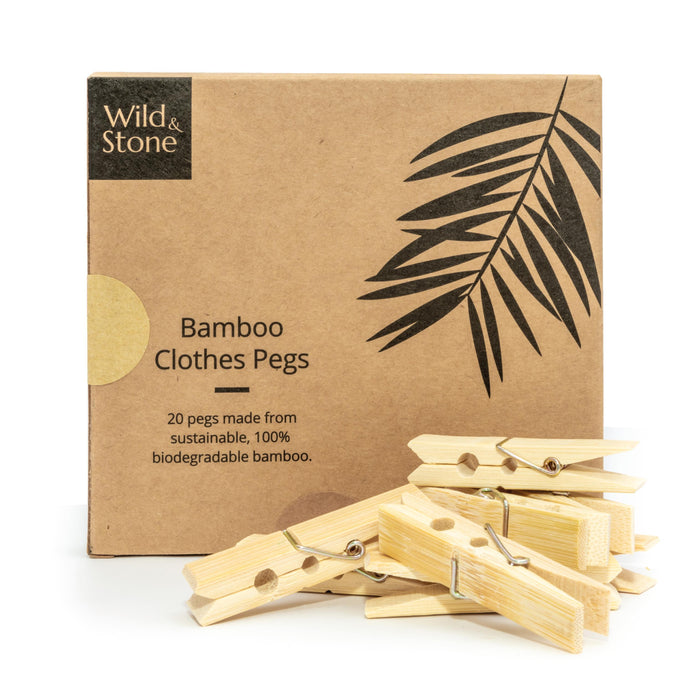 Bamboo Clothes Pegs