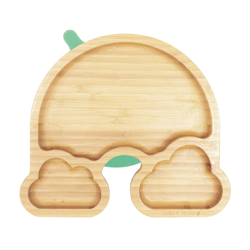 Bamboo Weaning Plate - Over The Rainbow