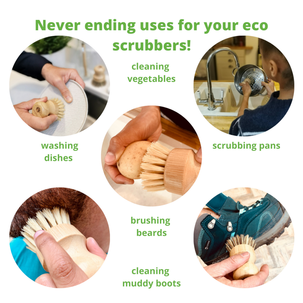 Cheeky Bamboo Pot Scrubbers (With Eyes)