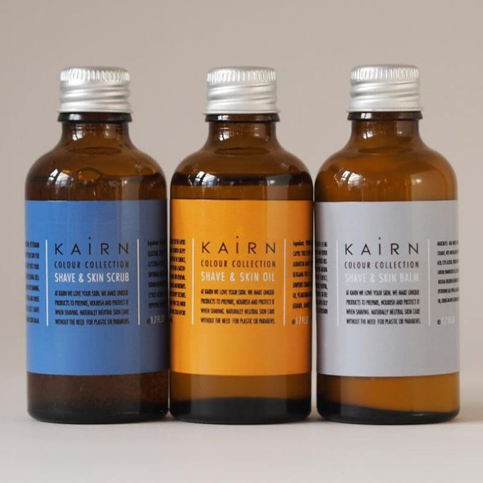 Shave scrub, oil and balm Shaving Kairn Skincare