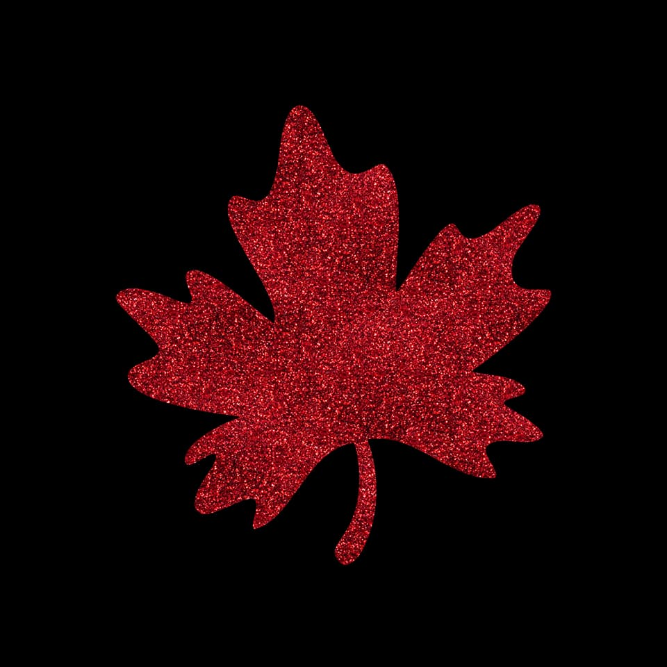 Faux Glitter Maple leaf panel 15 % off