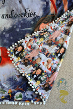 Christmas Nostalgia ADULT Blanket Topper  58 inches wide 79 inches long