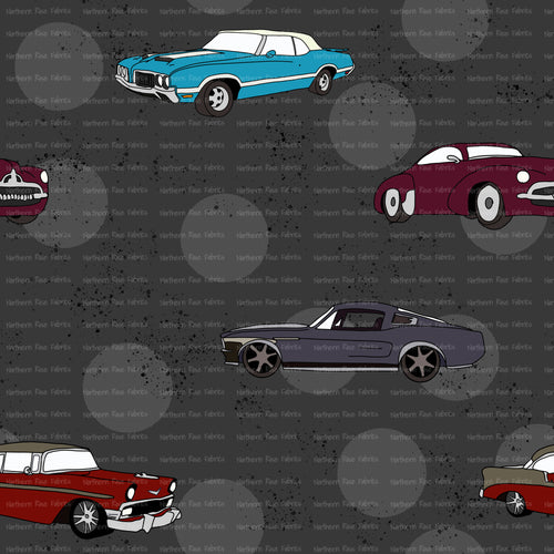 *PRE-ORDER Vintage Muscle Cars SOLD BY THE 1/2 METRE*