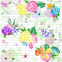 *PRE-ORDER Rainbow Spring Floral Original Artwork sold by the half meter*
