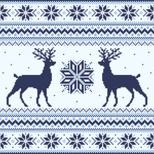 Blue Holiday Deer