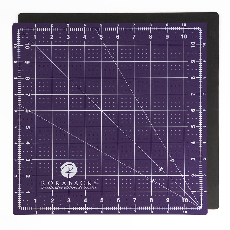 RORABACKS Premium Pleasantly Purple Self Healing Cutting Mat (11x11, Purple)