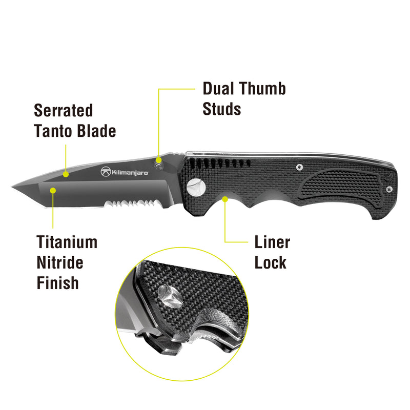 Annex 8 in. Folding Knife - Tanto Blade