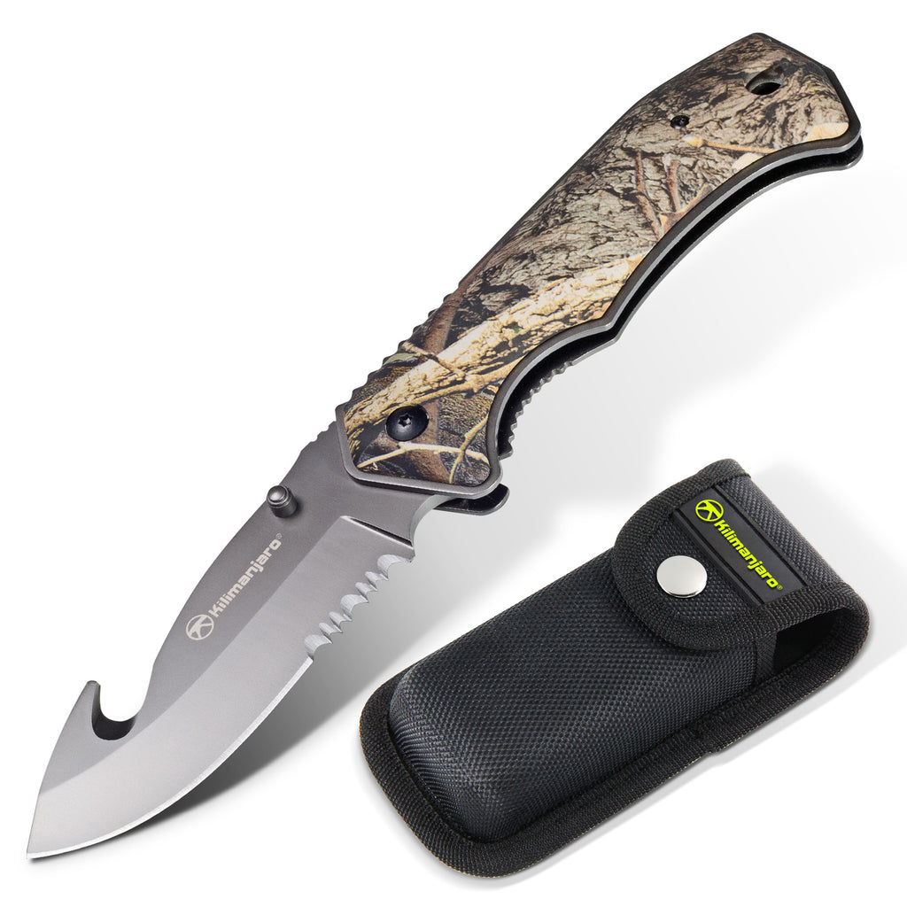 Victus 8 in. Folding Knife - Gut Hook Blade - Camo