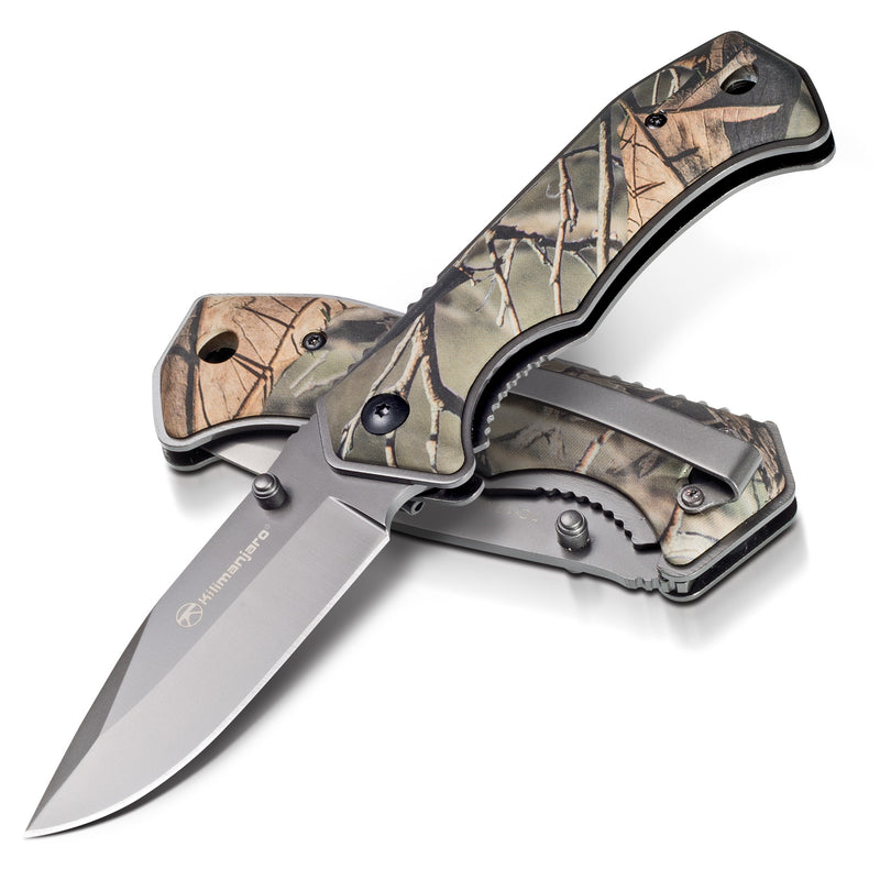 Victus 7 in. Folding Knife - Drop Point Blade - Camo