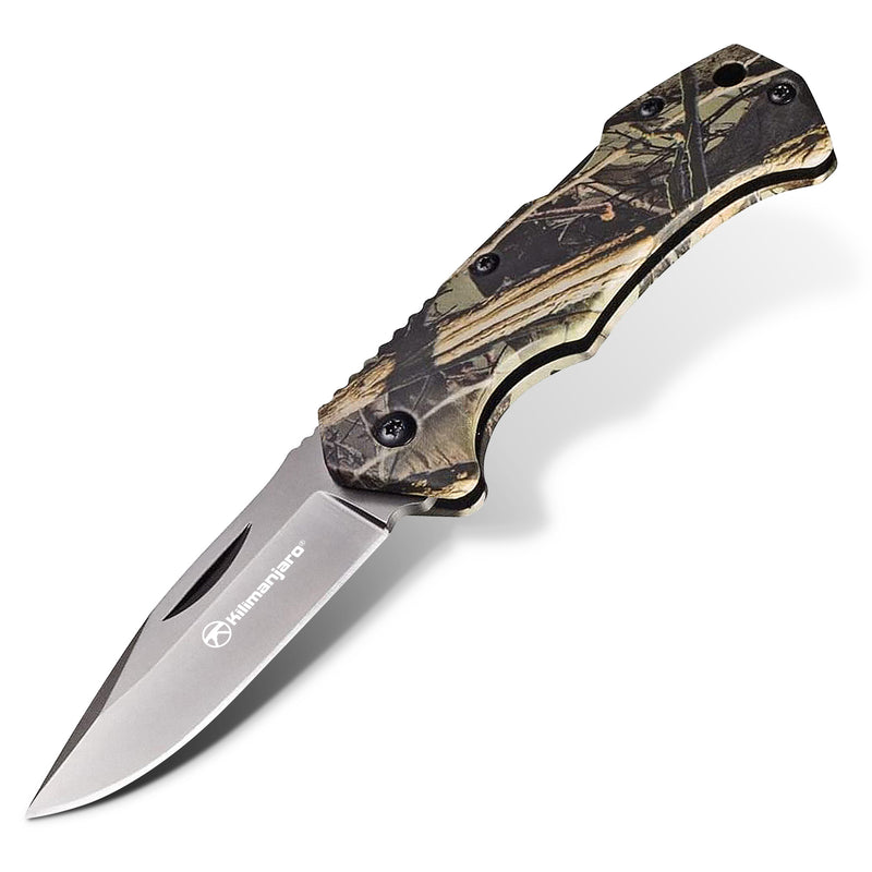 Victus 6 in. Folding Knife - Drop Point Blade - Camo