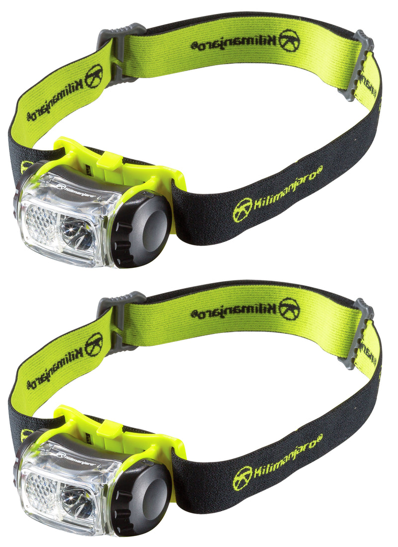 2 Pack Kilimanjaro LED Headlamp 180 Lumens Spot Flood Water Resistant -240234