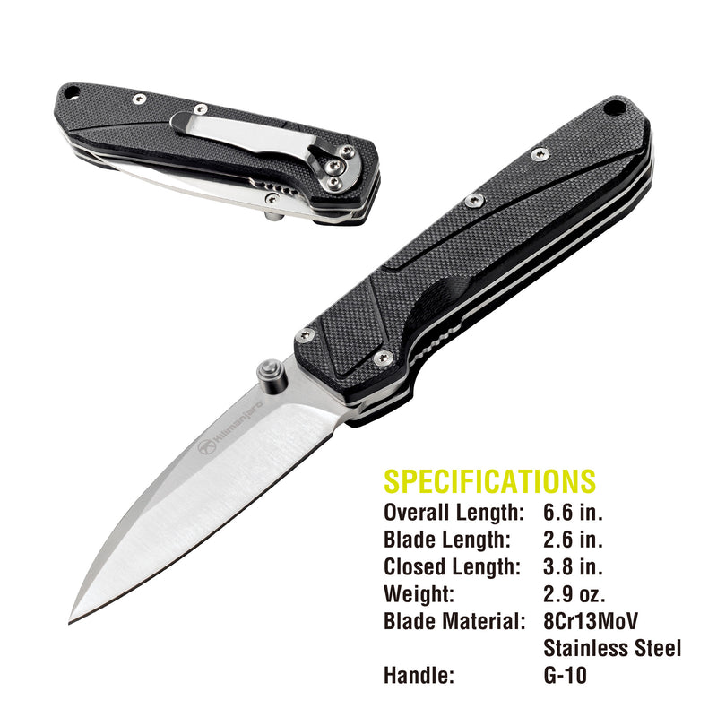 Prota 6-1/2 in. Folding Knife - Spring Assist
