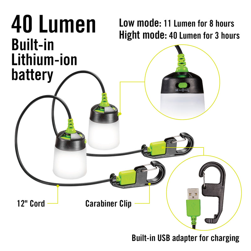 Lumavine Mini LED Lantern -  2 Piece Set