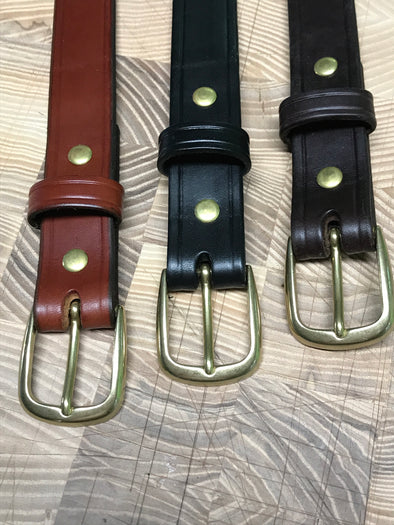 Belts, rugged bridle leather