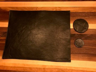 Irish leather placemat and coaster set