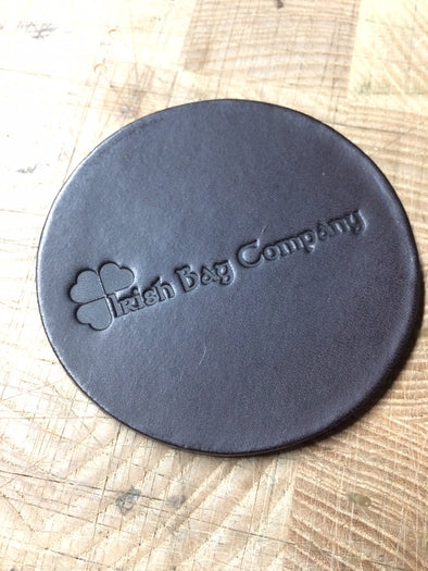 Drink coasters, bridle leather