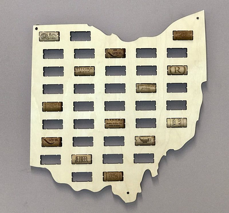 Medium Ohio Wine Cork Holder