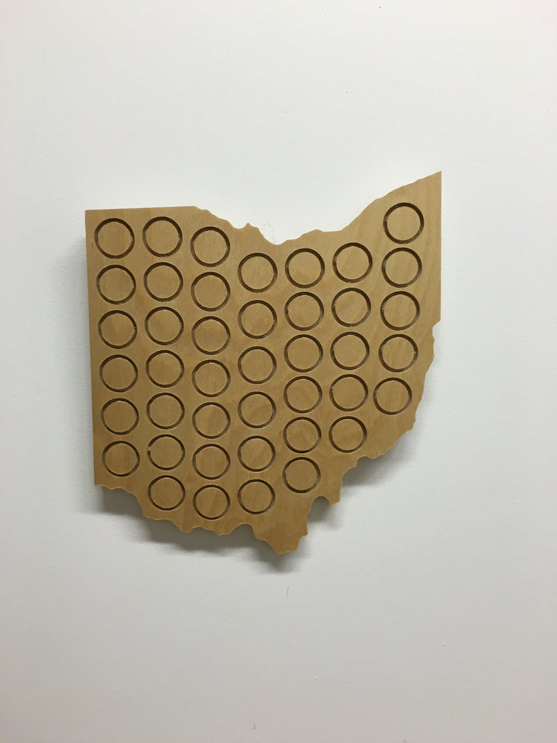 Small Beer Cap Ohio Plaque