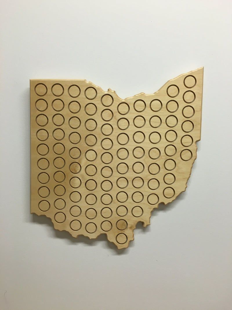 Large Beer Cap Ohio Plaque