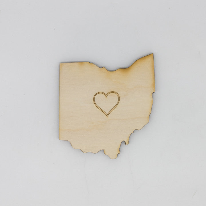 Heart Ohio Coaster