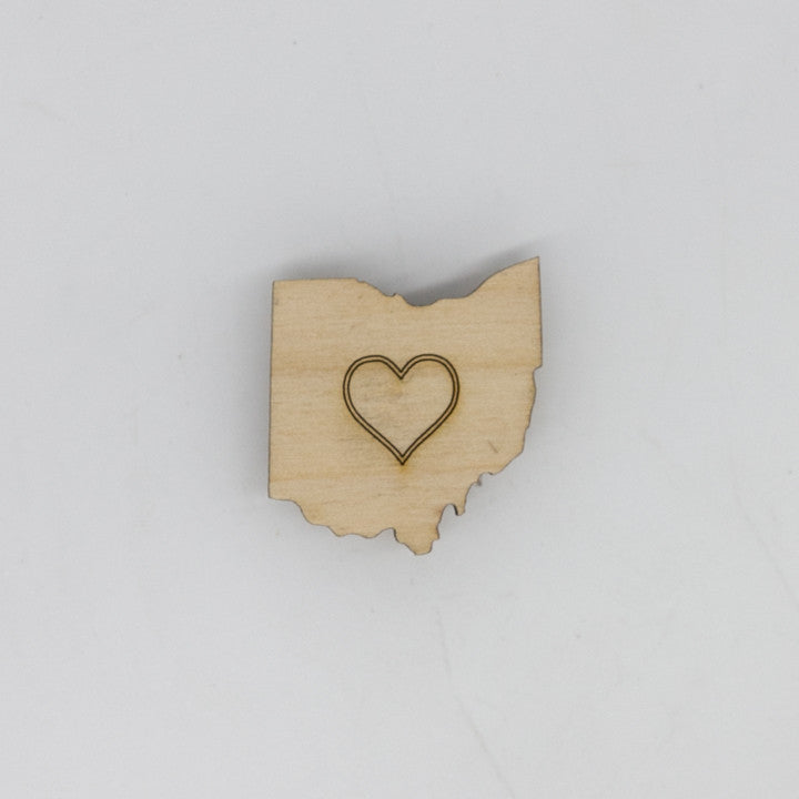 Heart Ohio Mini Magnet