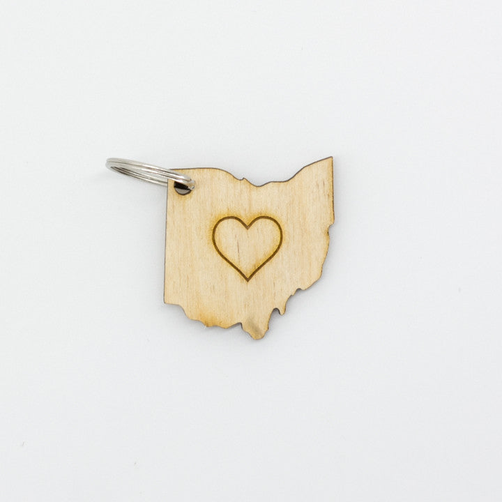 Heart Ohio Keychain