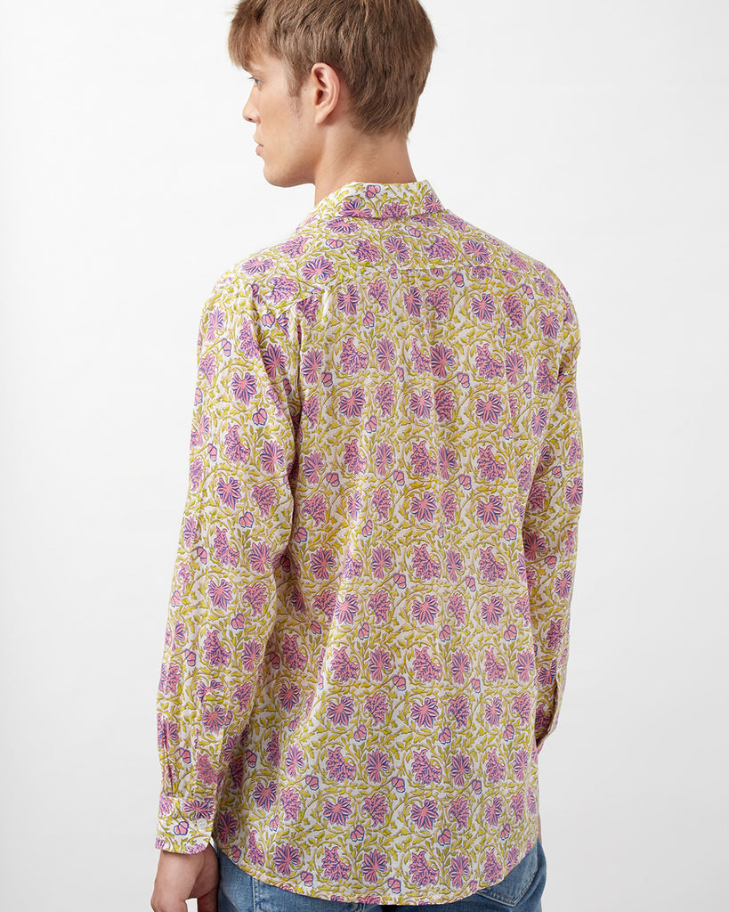 CHYULU SHIRT IN PINK & GREEN