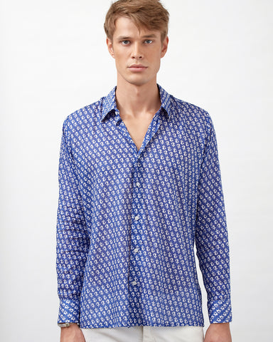 LAMU SHIRT IN BLUE