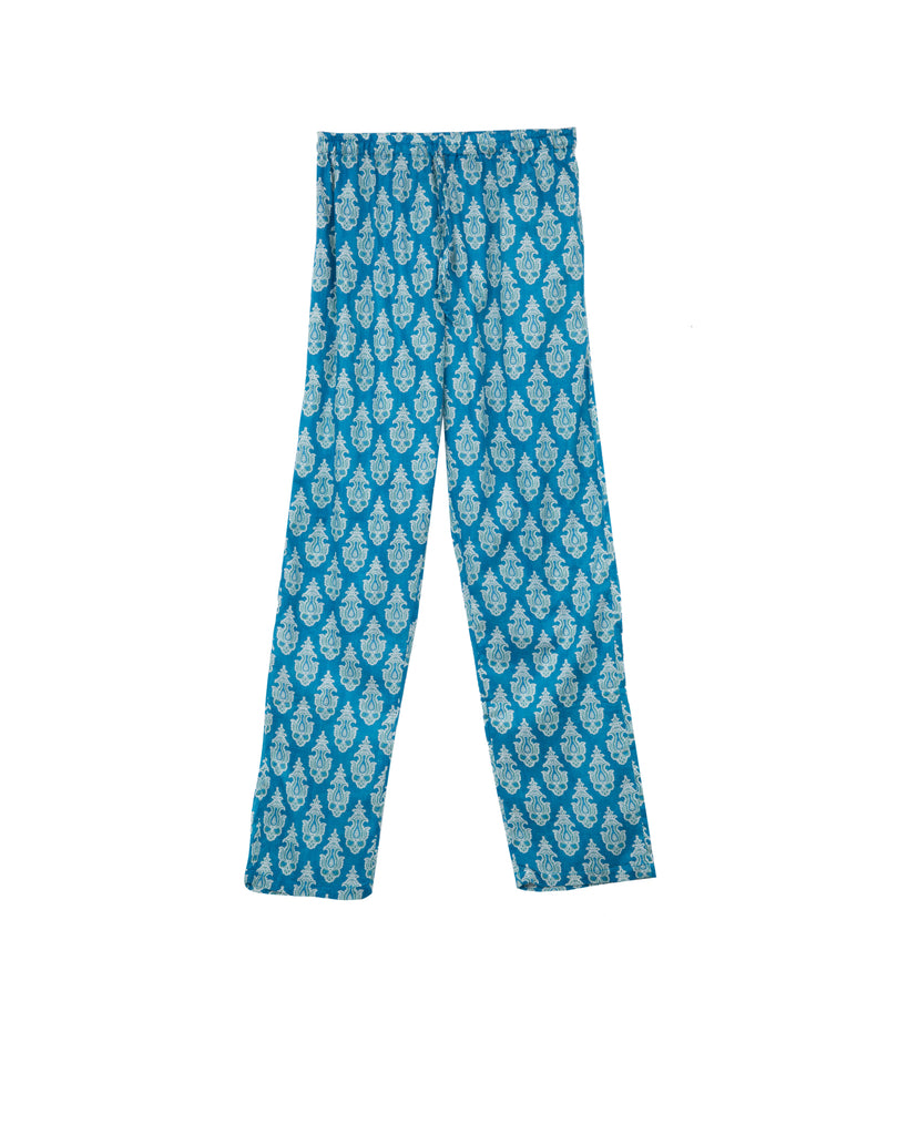 MOMBASSA COTTON PANTS IN BLUE