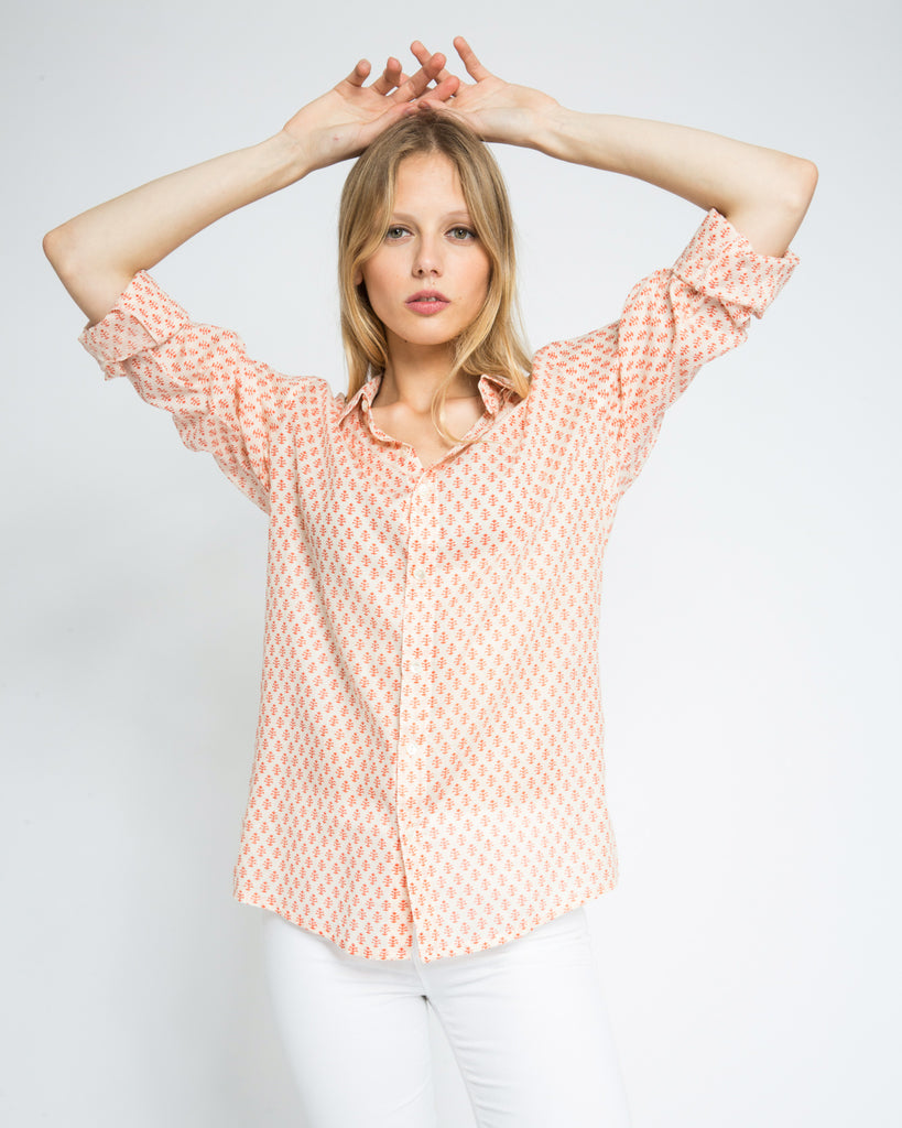 THIKA SHIRT IN ORANGE