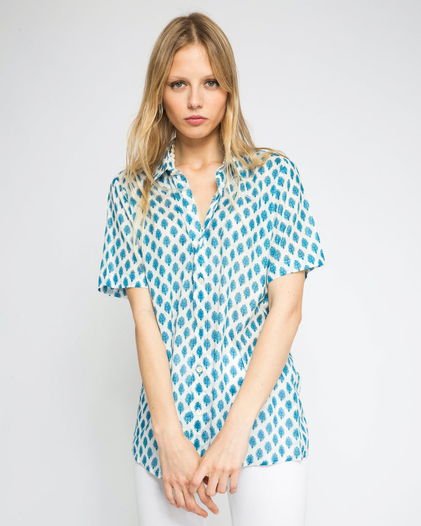 TIWI SHORT SLEEVE SHIRT IN BLUE