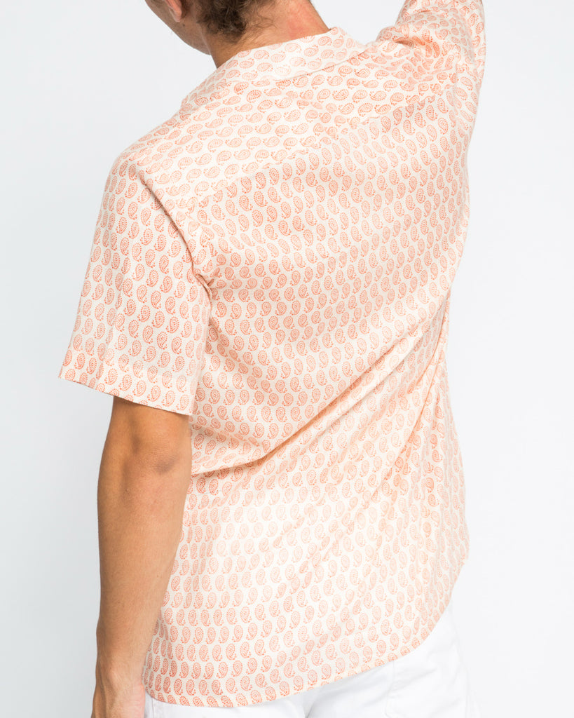 KAREN SHORT SLEEVE SHIRT IN ORANGE