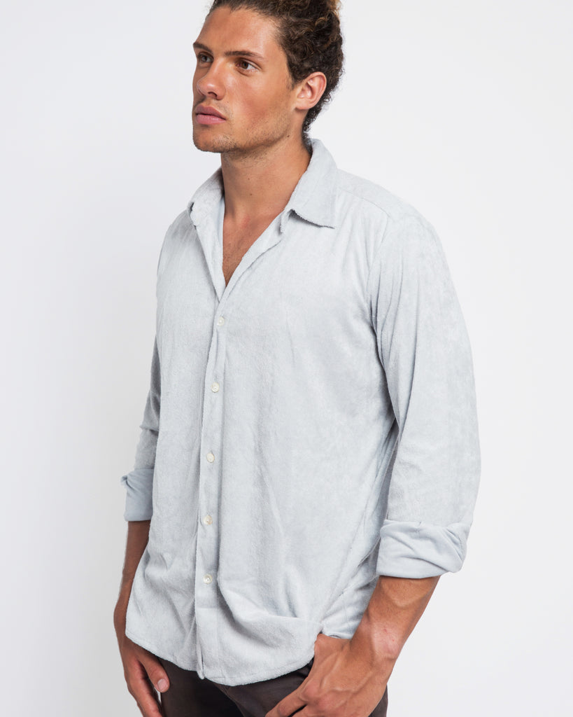 LIGHT GREY TOWELLING SHIRT