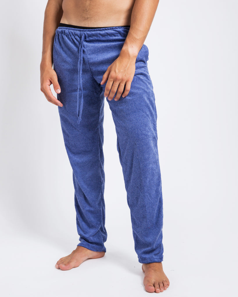 BLUE TOWELLING PANTS