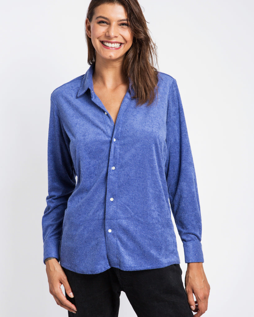 BLUE TOWELLING SHIRT