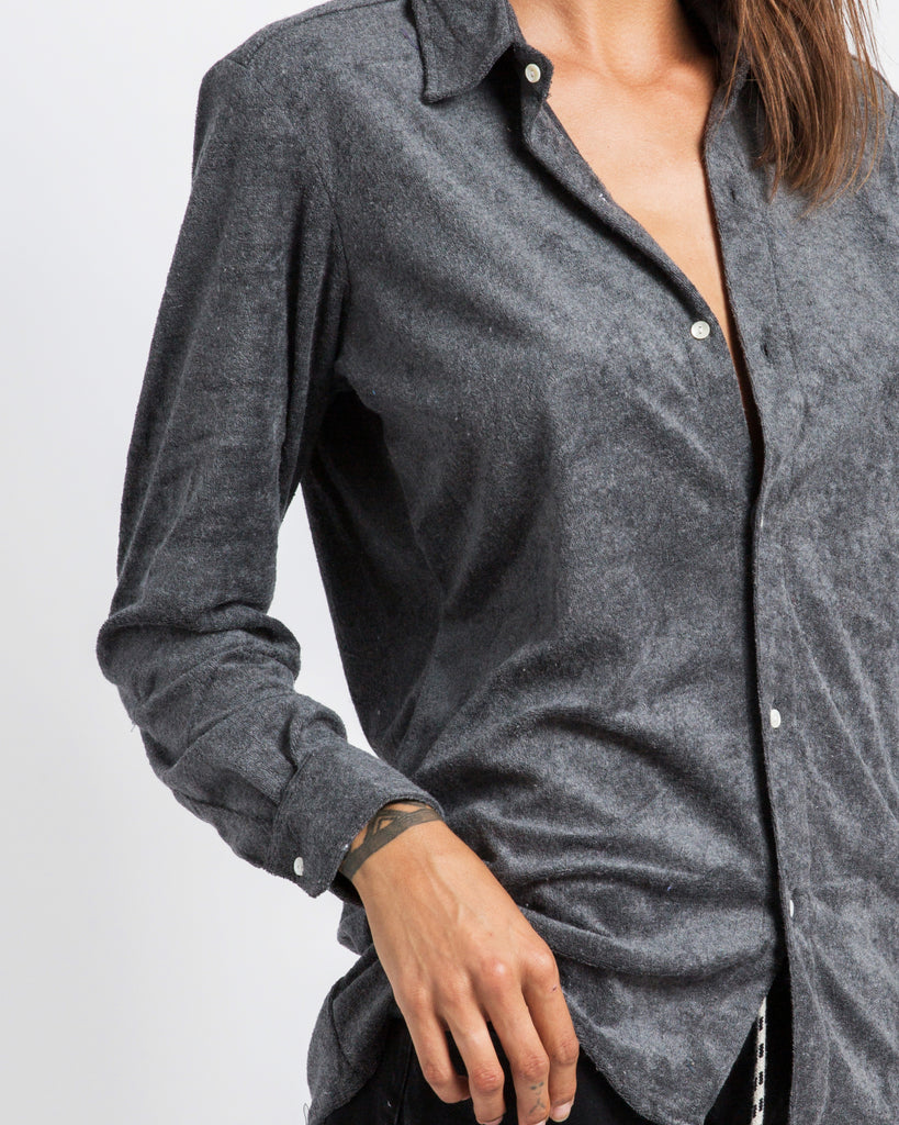DARK GREY TOWELLING SHIRT