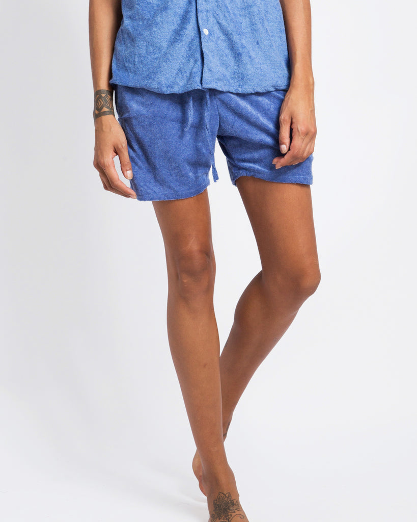 LIGHT BLUE TOWELLING SHORTS