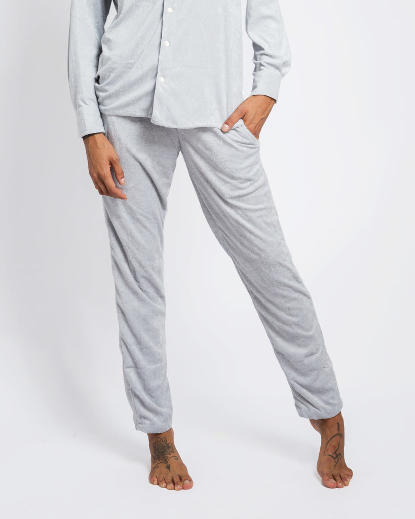 LIGHT GREY TOWELLING PANTS