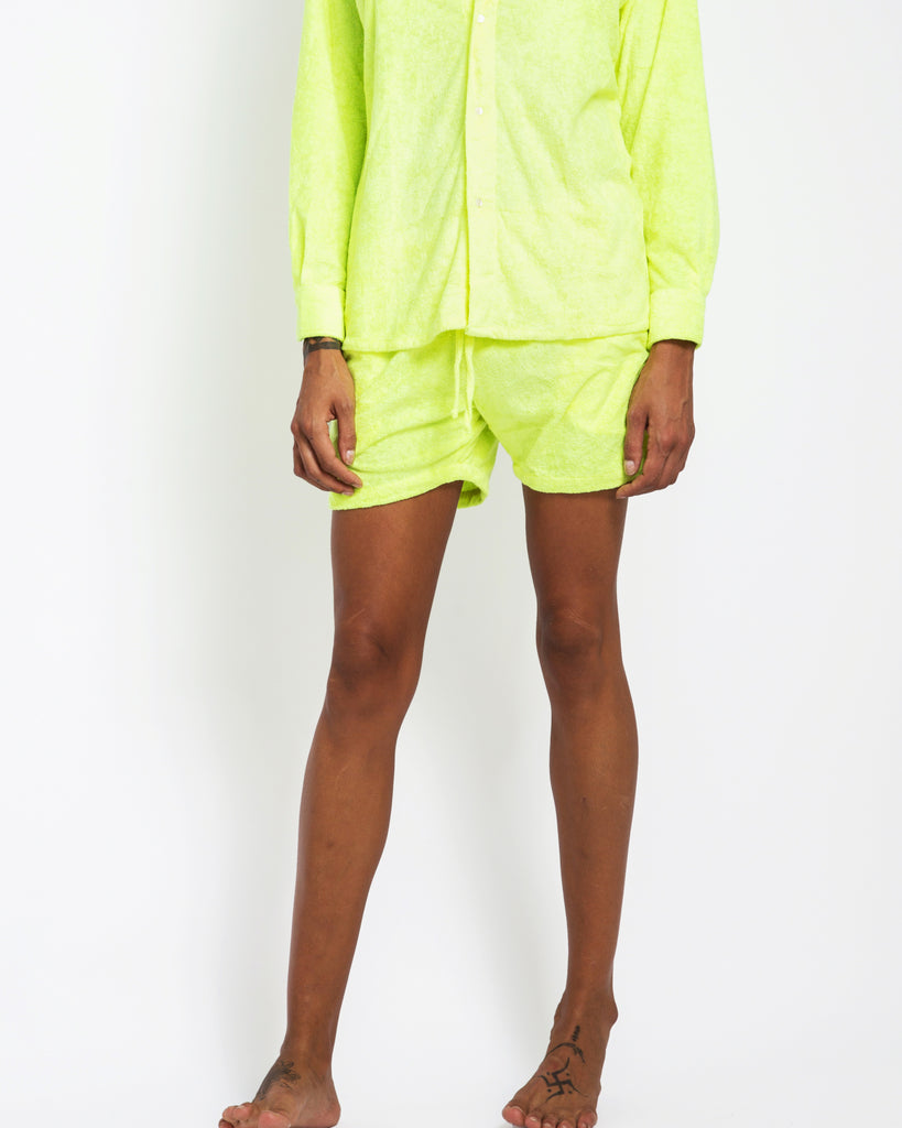 NEON TOWELLING SHORTS